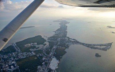 Flying over the Keys