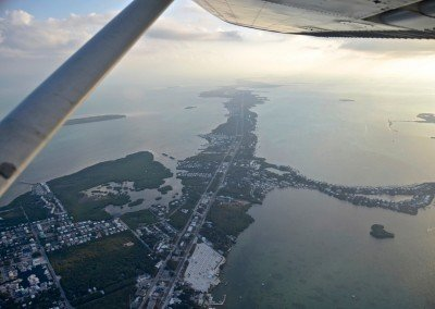 Flying over the Keys
