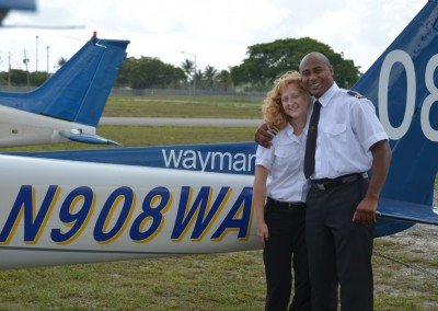 Private Pilot Lamar with CFI Jessica