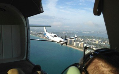 Formation Flying with a TBM 850